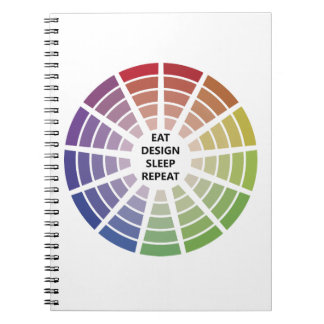Eat design sleep repeat Notebook