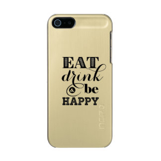 Eat, Drink And Be Happy Incipio Feather® Shine iPhone 5 Case
