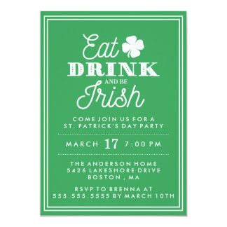 Eat Drink and Be Irish St. Patrick's Day Card