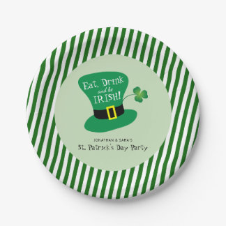 Eat, Drink and Be Irish St. Patrick's Day Party 7 Inch Paper Plate