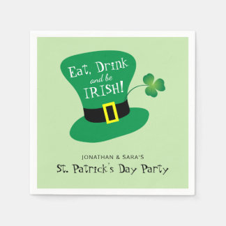 Eat, Drink and Be Irish St. Patrick's Day Party Paper Napkins