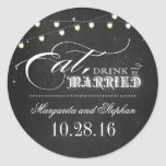 eat drink and be married chalkboard wedding