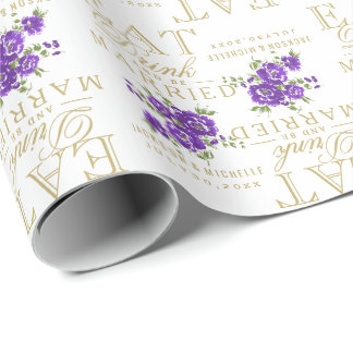 Eat, Drink and be Married - Purple Flowers