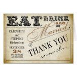 Eat drink and be married Thank you cards