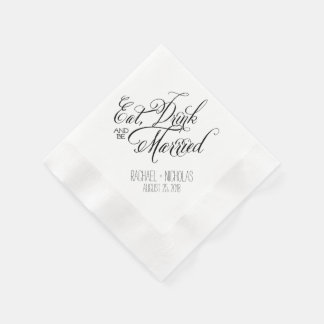 Eat Drink and Be Married | Wedding Paper Napkins