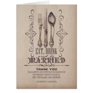 eat drink and be married wedding thank you cards