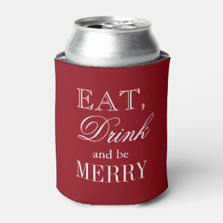 Eat drink and be merry Christmas party can coolers