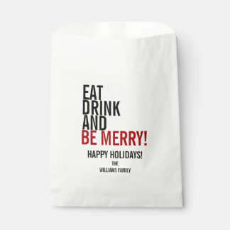 Eat Drink and Be Merry Holiday Favor Bag