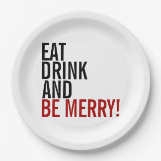 Eat Drink And Be Merry Holiday Paper Plates