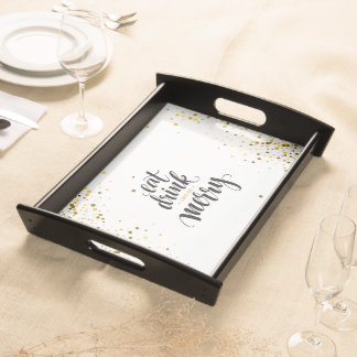 Eat, Drink and be Merry holiday serving tray