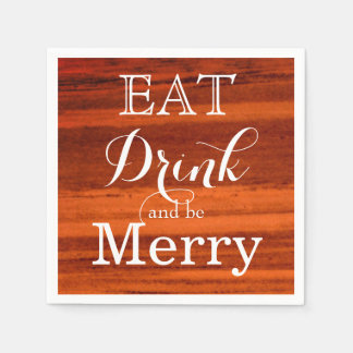 Eat Drink and be Merry Paper Napkin