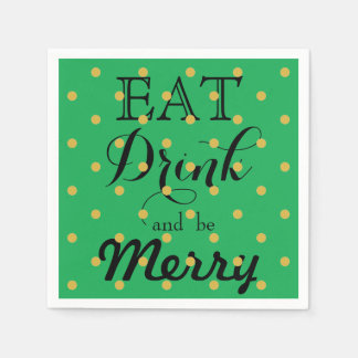 Eat Drink and be Merry Paper Napkins