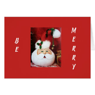 ***EAT DRINK AND BE MERRY*** THIS CHRISTMAS-SANTA CARD