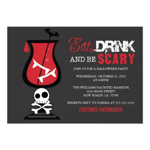 Eat Drink and Be Scary | Cocktail Invites