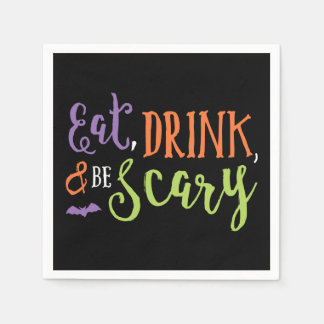 Eat Drink and Be Scary Halloween Napkins Disposable Napkin