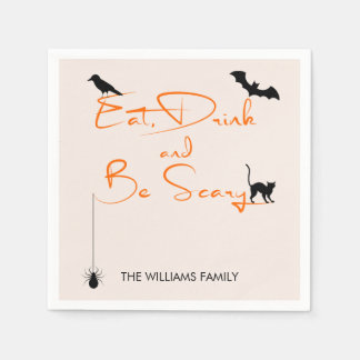 Eat Drink and Be Scary Halloween Paper Napkins