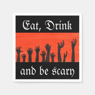 Eat, Drink, and Be Scary Napkin Disposable Napkin