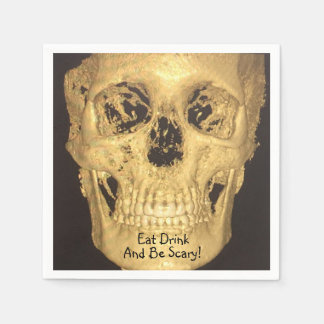 Eat Drink And Be Scary Skull Disposable Napkins