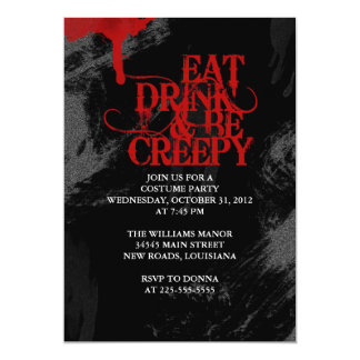 "Eat Drink & Be Creepy 5"" X 7"" Invitation Card"
