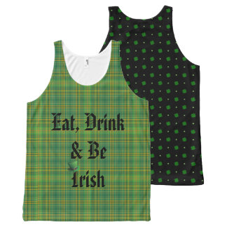 Eat, Drink & be Irish All-Over-Print Tank Top