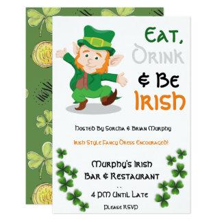 Eat, Drink & Be Irish St. Patrick Day Invites