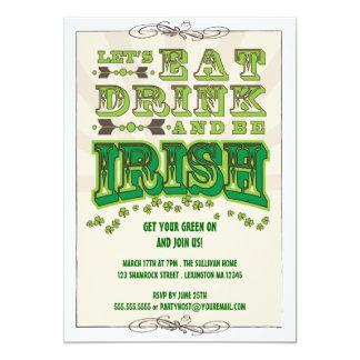 Eat, Drink & Be Irish St. Patrick's Day Invitation