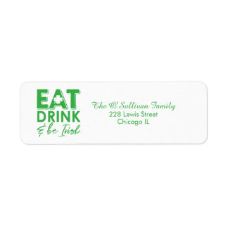 Eat, Drink & Be Irish Typography St. Patrick's Day