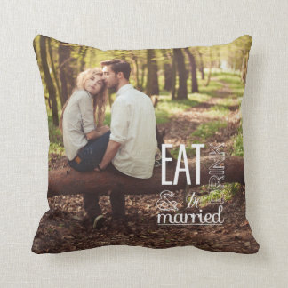 Eat Drink & Be Married Photo Pillow