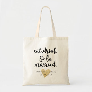 eat,drink&be married wedding welcome gift tote bag