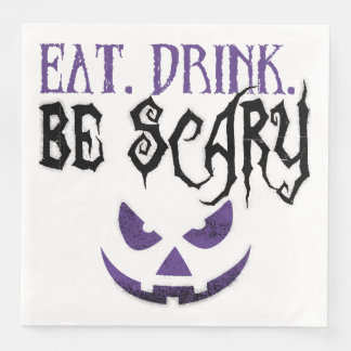 Eat. Drink. Be Scary Napkins Disposable Napkins