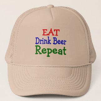 Eat Drink Beer Repeat Trucker Hat