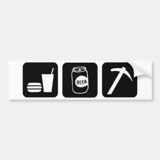 Eat Drink Beer Rockhound Bumper Sticker