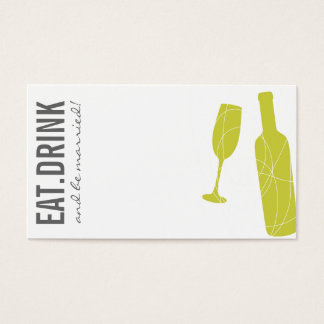 Eat-Drink-BeMarried Escort Card