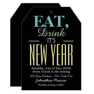 Eat, Drink It's New Year Card