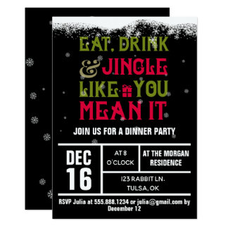 Eat, Drink & Jingle Holiday Party Invite