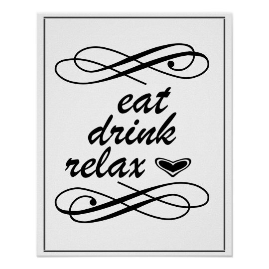 Eat Drink Relax Home Decor