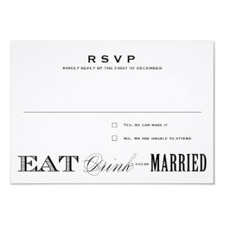 EAT, DRINK | RSVP 3.5 x 5 Card