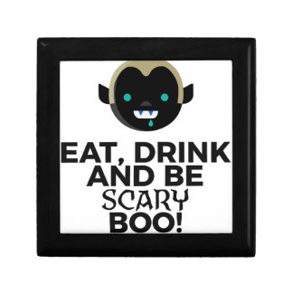 Eat Drink Scary Boo Halloween Design Gift Box