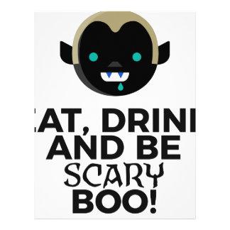 Eat Drink Scary Boo Halloween Design Letterhead