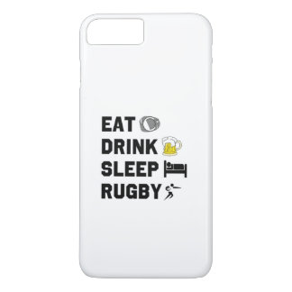 Eat. Drink. Sleep. Rubgy. iPhone case