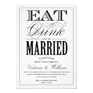EAT,DRINK | WEDDING INVITATION STYLE 2