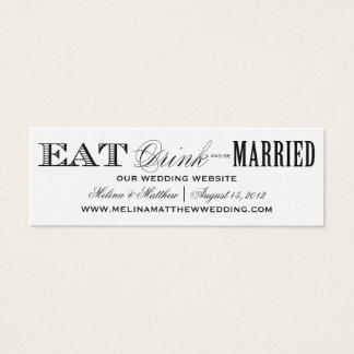 EAT, DRINK | WEDDING WEBSITE CARDS