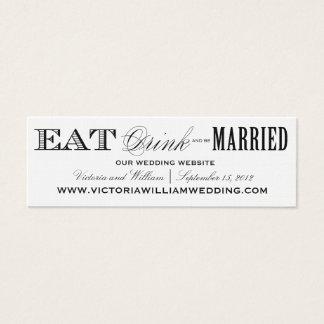 EAT, DRINK | WEDDING WEBSITE CARDS STYLE 2