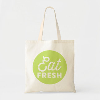 Eat Fresh | Rustic Retro Typography Tote Bag