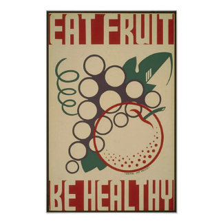 Eat Fruit- 1938 poster