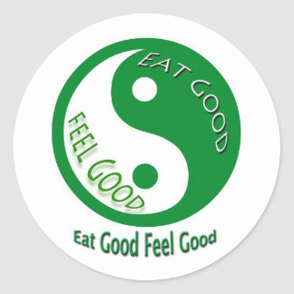 Eat Good Feel Diet and Weight Loss Round Sticker