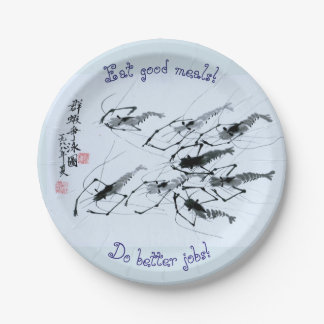 Eat Good Meals! Do Better Jobs! Paper Plate