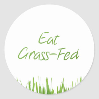 eat-grass-fed classic round sticker