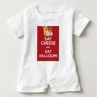 EAT HALLOUMI GREEK CHEESE BABY ROMPER
