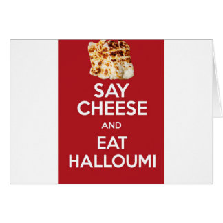 EAT HALLOUMI GREEK CHEESE CARD